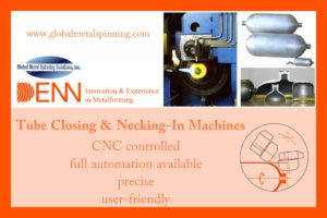 DENN tube necking-in machine