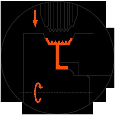 DENN pulley forming