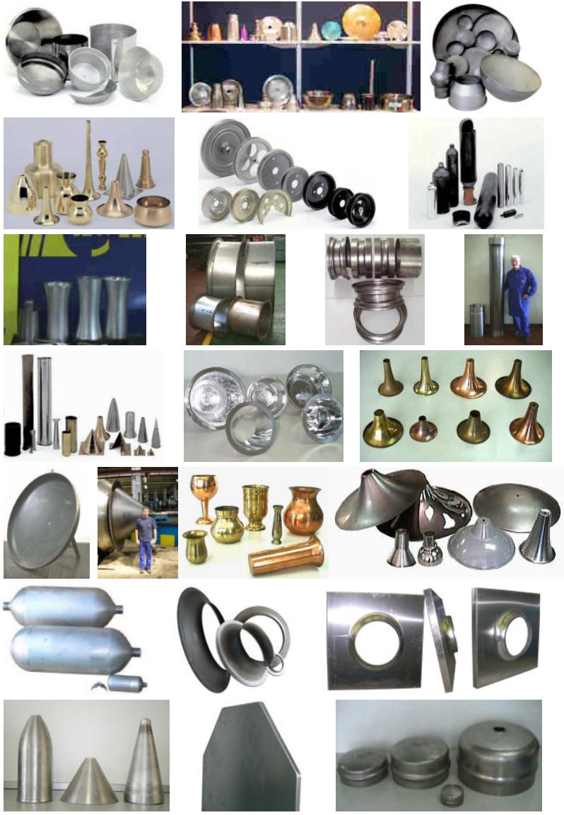 parts made on DENN metal forming machines