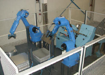 Aryma circle shear with robotic loading/ unloading